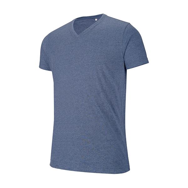 T-shirt Col V Chiné